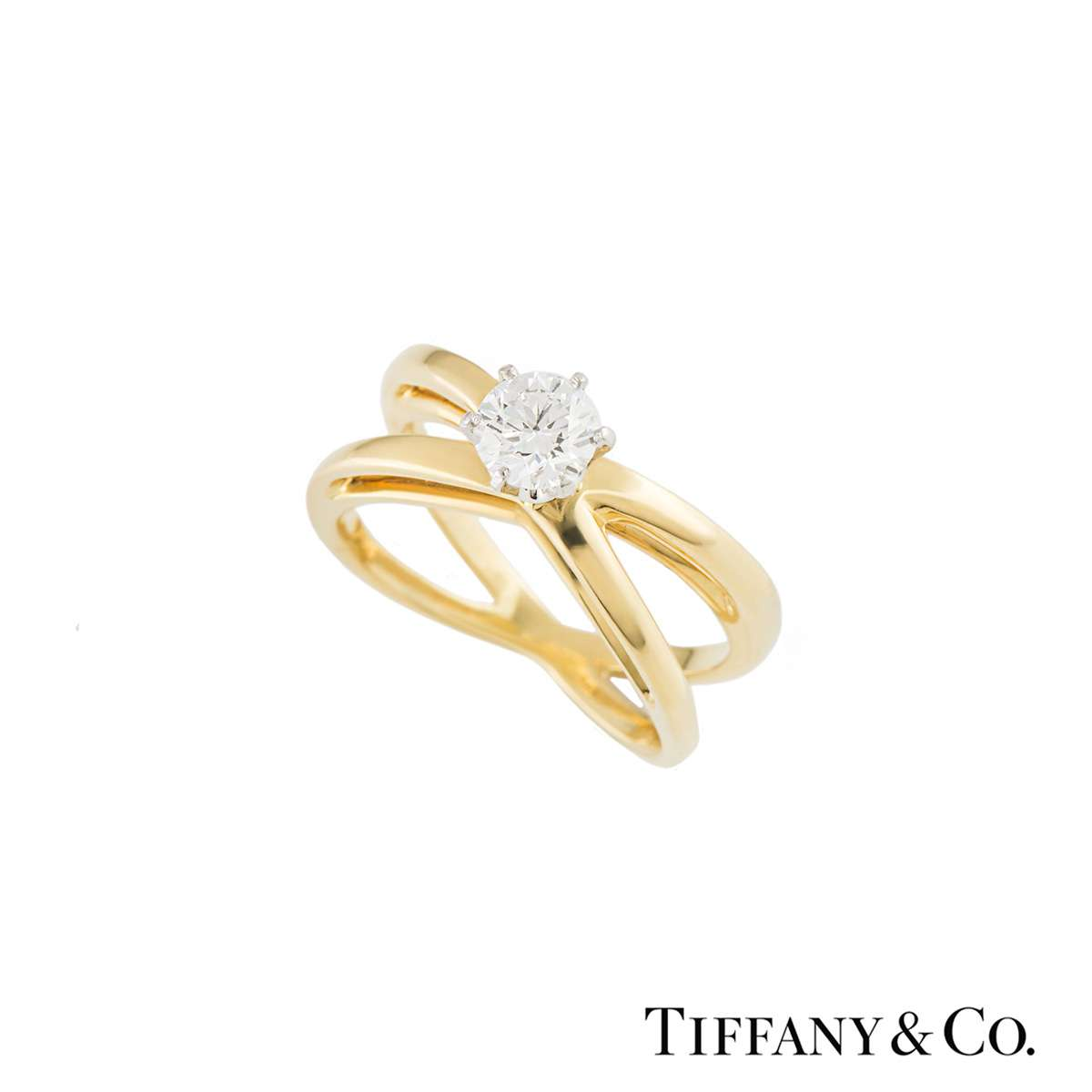 Tiffany & Co. Crossover Diamond Ring